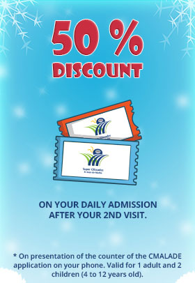 50% discount on your daily admission after your 2nd visit of the season